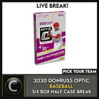 2020 DONRUSS OPTIC BASEBALL 6 BOX (HALF CASE) BREAK #A882 - PICK YOUR TEAM