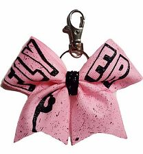 FLYER Pink sparkly Key backpack ring hair bow