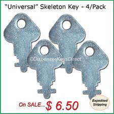 Skeleton Dispenser Key for Paper Towel & Toilet Tissue Dispensers - (4/pk.)