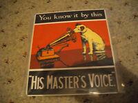 Blechschild his Master´s Voice Ireland ca.  25 x 22 cm gross
