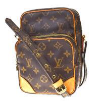 Auth Louis Vuitton Amazon Shoulder Bag Monogram Leather Brown M45236 81MC960
