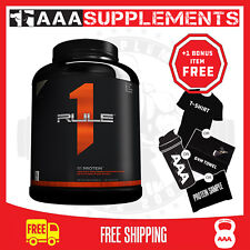 RULE 1 R1 PROTEIN 5LBS 76 SERVES WHEY ISOLATE WPI RECOVERY BUILD MUSCLE ONE