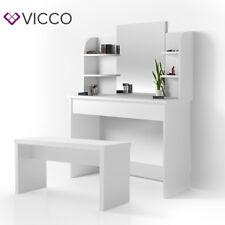 VICCO Schminktisch Frisiertisch LED Lichterkette Bank Hocker schwarz wei�Ÿ