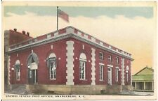 U.S. Post Office in Orangeburg SC Postcard 1919