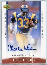 Charles White LA Rams Autograph 2006 UD NFL Legends Legendary Signature