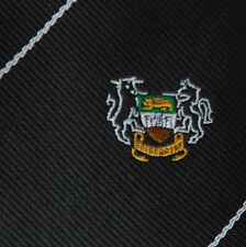 Cravatta NERA Britannico STEMMA LEONE Castle BULL Unicorno Club Sport Corporate