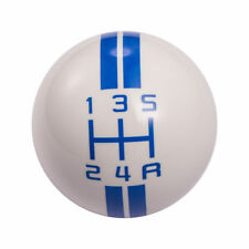 White & Blue Ford Mustang Car Speed Manual Gear Shift Knob Shifter Lever 5 Speed