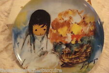 "De Grazia ""Floral Innocence"" 1995, Floral Fiesta Porcelain Collector Plate NIB"