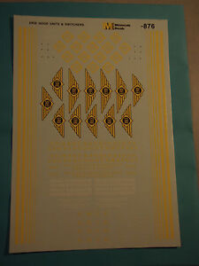 Erie diesel hood units and switchers (1945 - 1969) decals, S-scale
