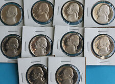 1980 - 1989 10 Coin Set Proof Jefferson Nickel Lot 5c Coins Collection Five Cent