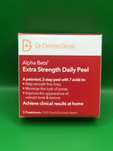 Dr DENNIS GROSS ALPHA BETA EXTRA STRENGTH DAILY PEEL x5 NEW IN BOX*