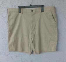 NWOT SONOMA FLEXWEAR Men's Flat Front Shorts Sz 44 Cotton Khaki Beige