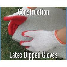 (5) Five Pair Rubber Coated Gardening Gloves Size Medium