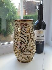 Vintage 1950's Wade 'Gothic ' hand decorated vase