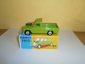 CORGI DIECAST LAND ROVER NO; 109 WITH REPRODUCTION BOX REPAINTED IN GREEN AS BOX