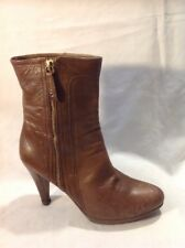 Unisa Brown Ankle Leather Boots Size 39