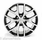 4 New Chevy Suburban Tahoe Black Machined Face 22 Wheels Rims Lug Nuts 5656