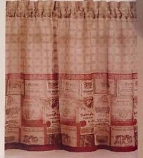 Chf Merlot Wine Theme Kitchen Window Tiers 58 X 36 Polyester Tan