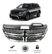Front Upper Grill Black and Chrome RT Style Grille Fits 2011 2017 Dodge Journey
