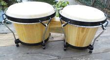 Bongo-Trommel -Set - Echtholz und Naturhautl - Größe: 6