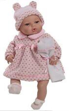 Berbesa Babypuppe, 42 cm, Mädchen, mit Funktion und viel Zubehör, rosa, Neu