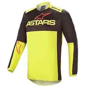 21 Alpinestars Fluid Tripple Motocross Jersey - Flo Yellow, Size XL