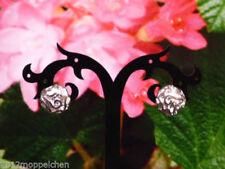 Echte Ohrschmuck aus Feinsilber Butterfly-Verschluss für Damen