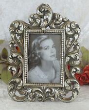 Bilderrahmen Antik Fotorahmen Barock Rahmen Prunkrahmen silber Stehrahmen Deko
