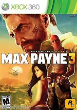 Max Payne 3 Xbox 360 Brand New Factory Sealed Fast Shipping