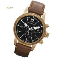 Burberry Watch, Swiss Chronograph Brown Leather Strap 42mm BU7814