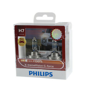 Genuine PHILIPS Extreme Vision G-Force H7 Globe 12V 55W - Twin Pack