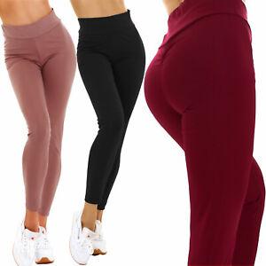 Leggings donna pantaloni arricciati sport fitness palestra TOOCOOL BE-3107