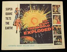 SCI FI THE NIGHT THE WORLD EXPLODED 1957 Lobby Card Set HORROR
