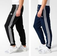 Adidas Essentials 3 Stripes Classic Fit Track Pants Black and Blue All Sizes