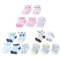 5pairs/Lot Cartoon Toddlers Kids Socks Cute Baby Boys Girls Cotton Socks  #S5