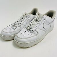 Men's Nike Air Force 1 AF1 Low Triple White Shoes Size 10