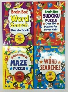 4x Kids Mini Puzzle Book Word Search, Maze, Sudoku, One Each Party Event
