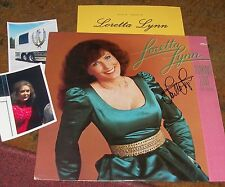 LORETTA LYNN Autographed MINT Album & Photos Country Legend- REAL Collectible