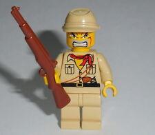 "ARMY/WAR Lego ""Japanese Soldier"" w/Rifle NEW WWII -ba- Kepi Genuine Legos"