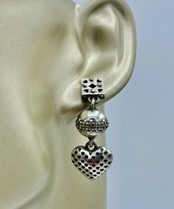 Brighton Playing Cards Dice Heart Post Vintage Earrings