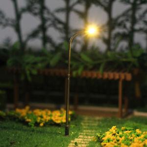 10pcs Model Railway Warm White Lamp 1:150 Street Lights N Scale LEDs 6cm