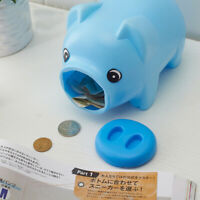 Plastic Piggy Bank Desktop Decoration Pig Design Saving Pot Money Box for Kids