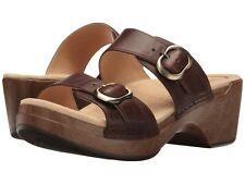 Women's Dansko Comfort Sandal Clog Sophie Teak Brown Leather