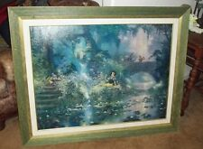 Snow White Picking Flowers Disney James Coleman On Canvas Custom Framed