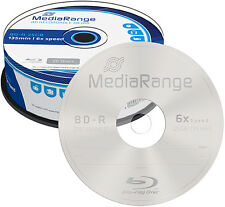 50 MediaRange BD-R 25Gb 6x Blu-ray Rohlinge Spindel