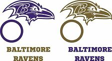 Baltimore Ravens Cornhole Deluxe Set of 6 Vinyl Decal Stickers Bean Bag Toss nfl