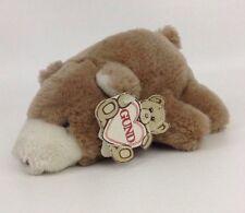 "Vintage 1980 Gund Snuff the Beige &White Bear 8"" Plush Stuffed Animal w Tags"