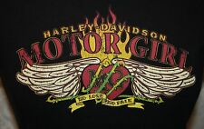 HARLEY DAVIDSON MOTO MOTO Niña Camiseta M GREENVILLE SC Mujer MG HD llama