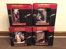 Set of 4 ~ Star Trek The Next Generation Limited Edition Coffee Mugs ~New in Box