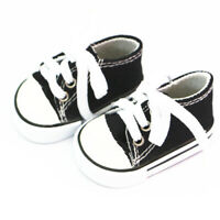 Doll Lace Up Canvas Sneakers Shoes for 18'' AG American Doll Dolls Black